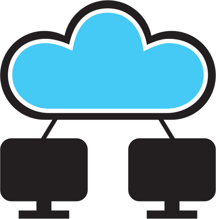 Cloud-connected computers logo for DentalRemote.